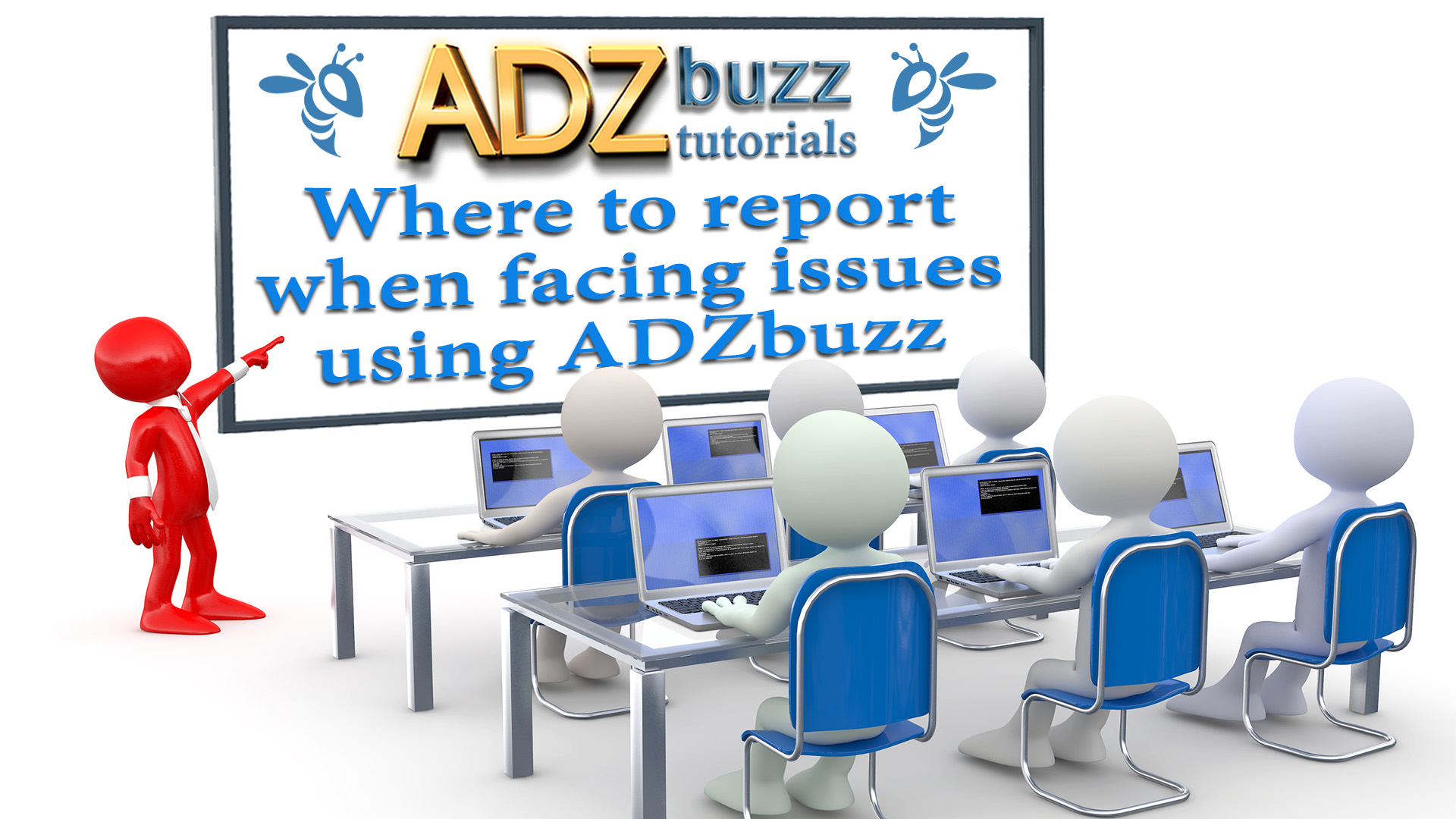 ADZ Tutorials – Where to report when facing issues using ADZbuzz