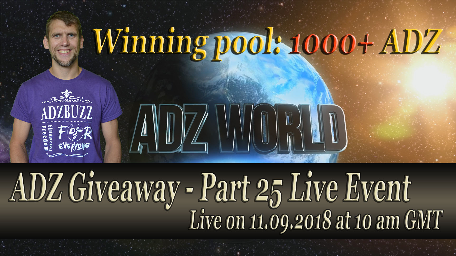 ADZ Giveaway 25 Live on 11th of September