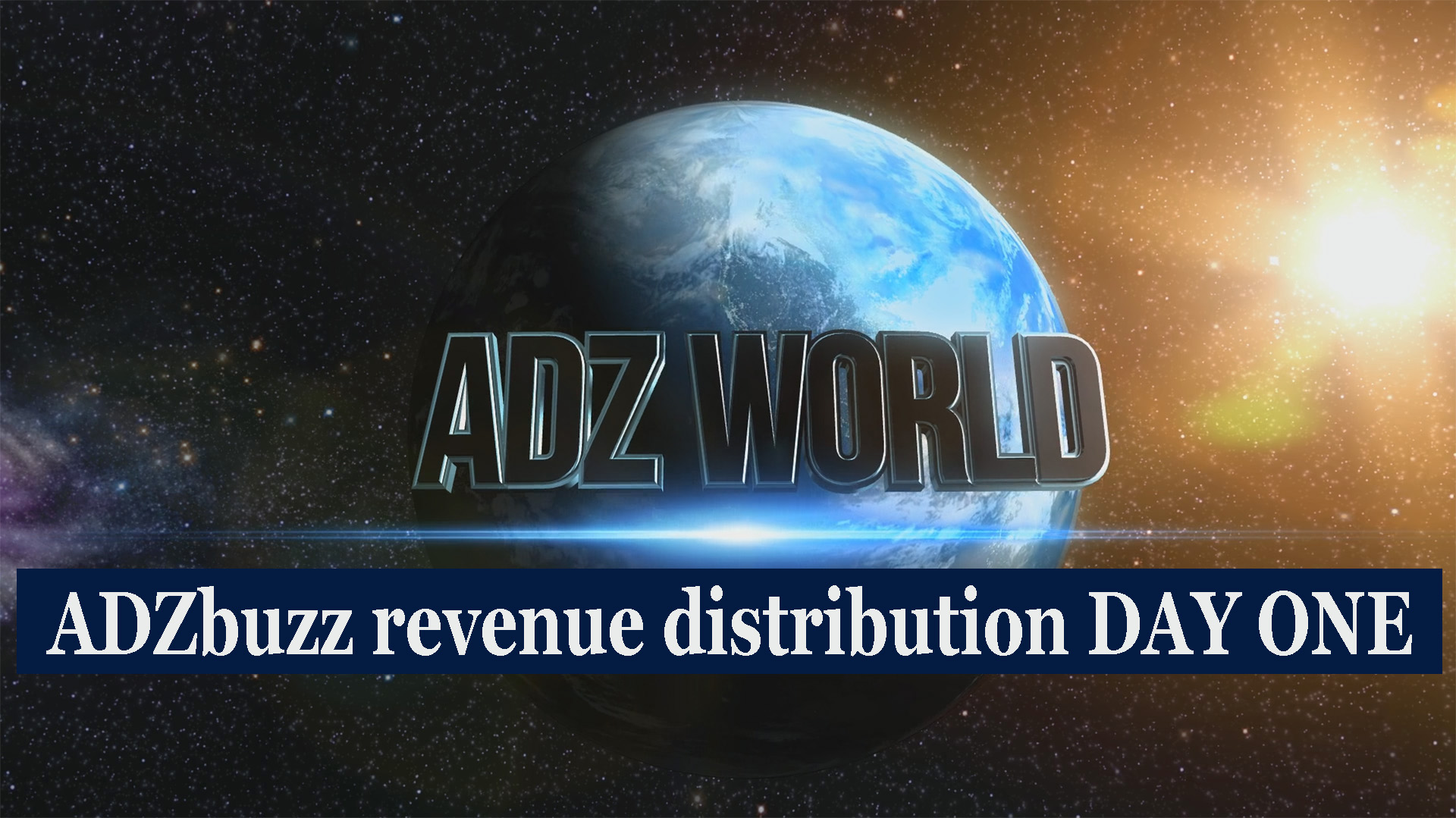 ADZbuzz first revenue distribution
