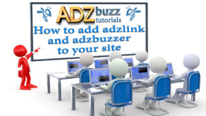 How to add ADZlink to your site