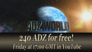 ADZbuzz Giveaway live broadcast Friday 17:00 GMT