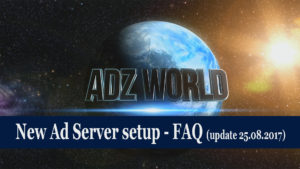ADZbuzz new Ad Server setup FAQ